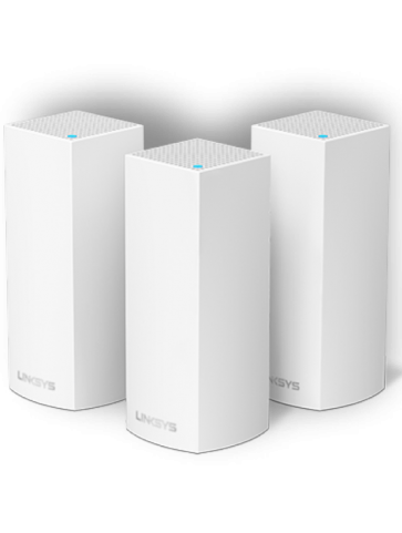 Точка доступу Linksys Velop Whole Home Intelligent Mesh WiFi System, Tri-Band, 3-pack