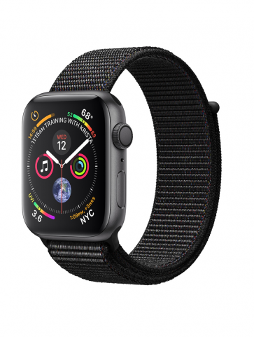 Apple Watch Series 4 GPS, 44mm Space Gray Aluminum Case with Black Sport Loop