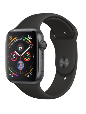 Apple Watch Series 4 GPS, 40mm Space Gray Aluminum Case with Black Sport Band
