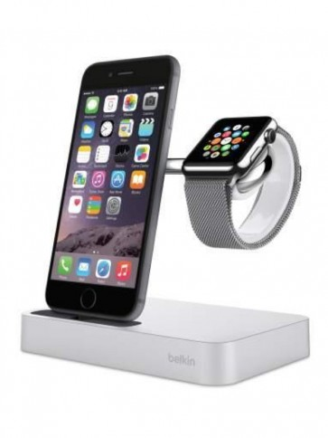 Док-станція BELKIN Charge Dock iWatch + iPhone, Silver