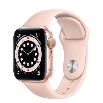 Apple Watch Series 6 GPS, 40mm Gold Aluminum Case with Pink Sand Sport Band