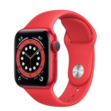 Apple Watch Series 6 GPS, 40mm Red Aluminum Case with Red Sport Band