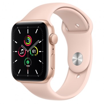 Apple Watch Series SE GPS, 44 mm Gold Aluminum Case with Pink Sand Sport Band