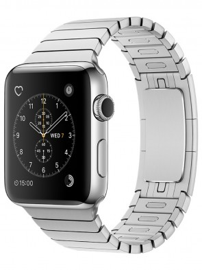 Apple Watch Series 2, 38mm Black Stainless Steel Case with Silver Link Bracelet