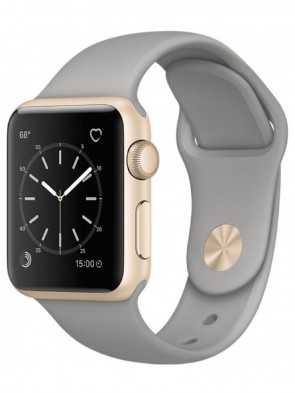 Apple Watch Series 2, 38mm Gold Aluminum Case with Concrete Sport Band