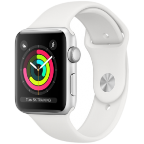Купити Apple Watch Series 3 GPS, 38mm Silver Aluminum Case with White Sport Band
