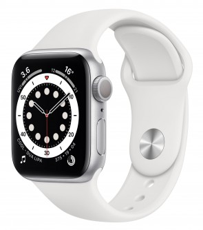 Купити Apple Watch Series 6 GPS, 44mm Silver Aluminum Case with White Sport Band