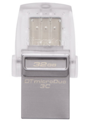 Kingston 32GB DataTraveler microDuo 3C/USB 3.0/3.1 + Type-C Flash Drive