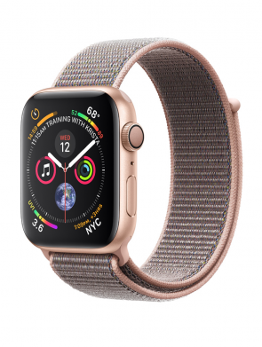 Apple Watch Series 4 GPS, 40mm Gold Aluminum Case with Pink Sand Sport Loop