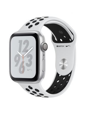 Apple Watch Series 4 44mm Nike+ Silver Aluminum Case with Pure Platinum/Black Nike Sport Band