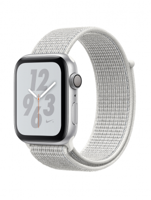 Apple Watch Series 4 44mm Nike+ Silver Aluminum Case with Summit White Nike Sport Loop