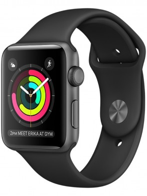 Apple Watch Series 2, 42mm Space Gray Aluminum Case with Black Sport Band