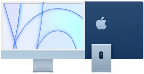 Купити iMac 24'' Retina 4.5K M1 chip 8-core CPU/8-core GPU/16-core Neural Engine8GB/256GB SSD Blue
