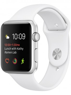Apple Watch Series 1, 38mm Silver Aluminum Case with White Sport Band