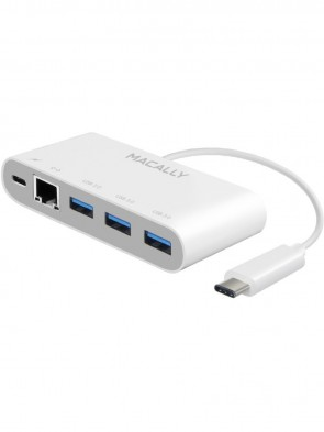 Адаптер USB-C to USB-A Hub with USB-C Charge and Ethernet Ports