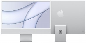 Купити iMac 24'' Retina 4.5K M1 chip 8-core CPU/8-core GPU/16-core Neural Engine8GB/256GB SSD Silver