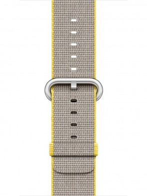 Ремінець Apple 38mm Yellow/Light Gray Woven Nylon