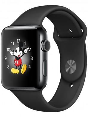 Apple Watch Series 2, 42mm Black Stainless Steel Case with Black Sport Band