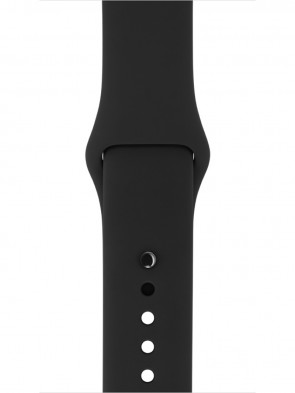 Ремінець Apple 38mm Black Sport Band with Space Gray Stainless Steel Pin