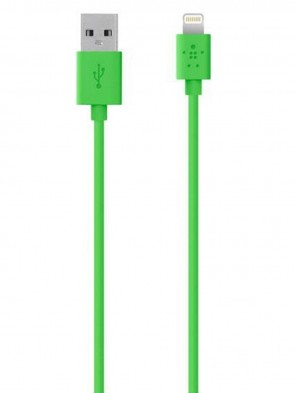 Кабель BELKIN USB 2.0 Lightning charge/sync cable 1.2м, Green