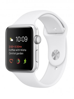 Apple Watch Series 2, 38mm Silver Aluminum Case with White Sport Band