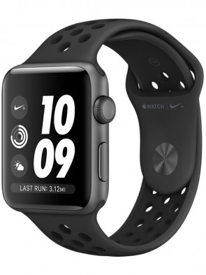 Apple Watch Series 3, 42mm Space Gray Aluminum Case with Anthracite/Black Nike Sport Band