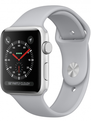 Apple Watch Series 3 GPS, 38mm Silver Aluminum Case with Fog Sport Band